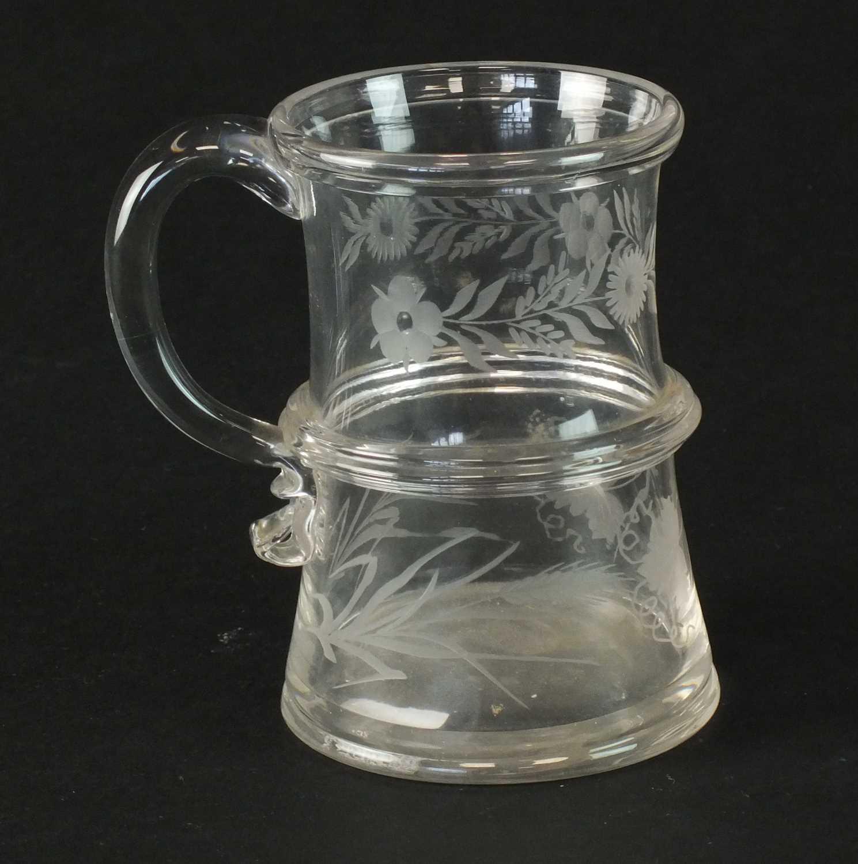 Engraved glass mug circa 1760-70 - Image 3 of 4