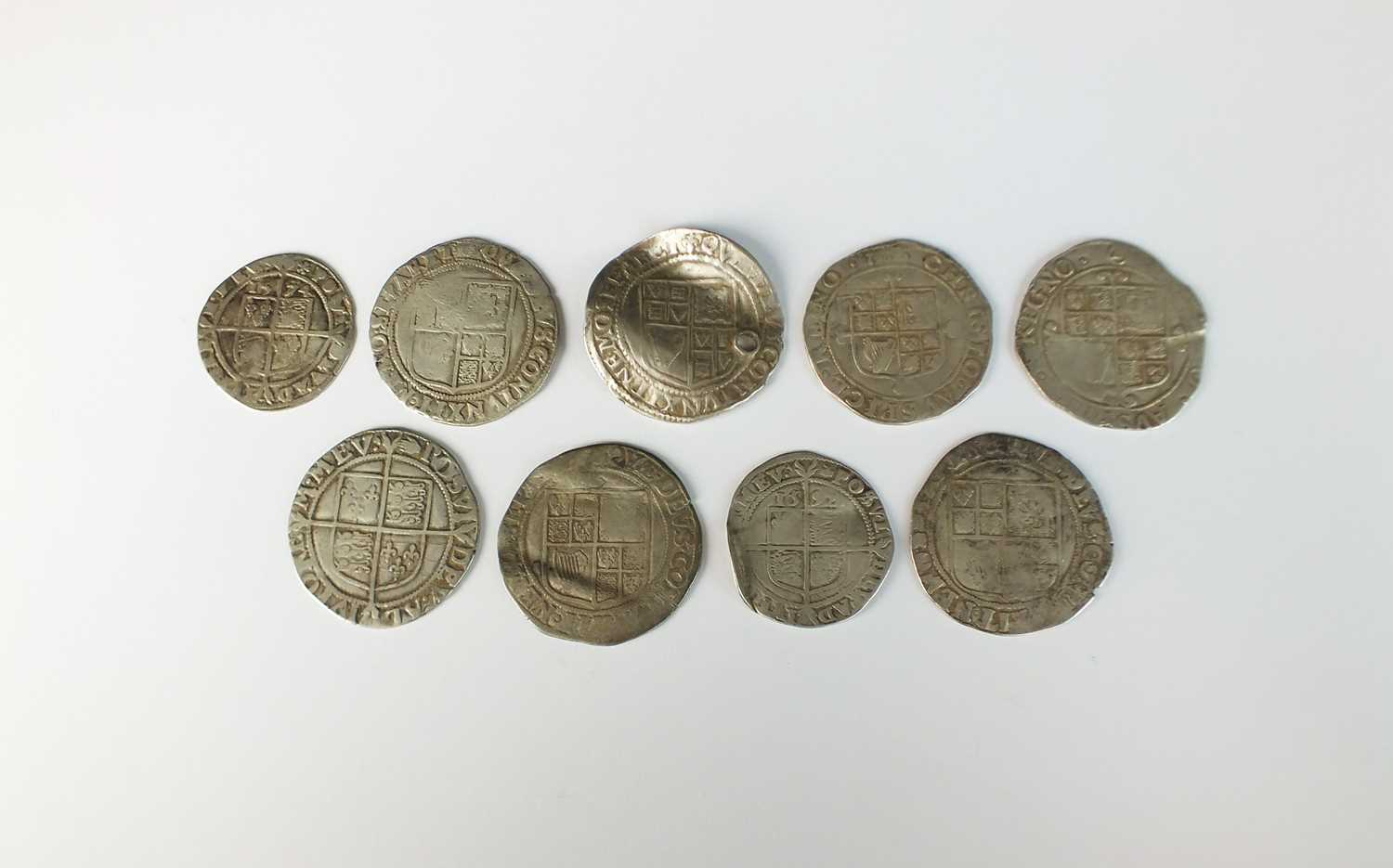 A collection of nine hammered silver coins from The Bridgwater Hoard - Image 2 of 2