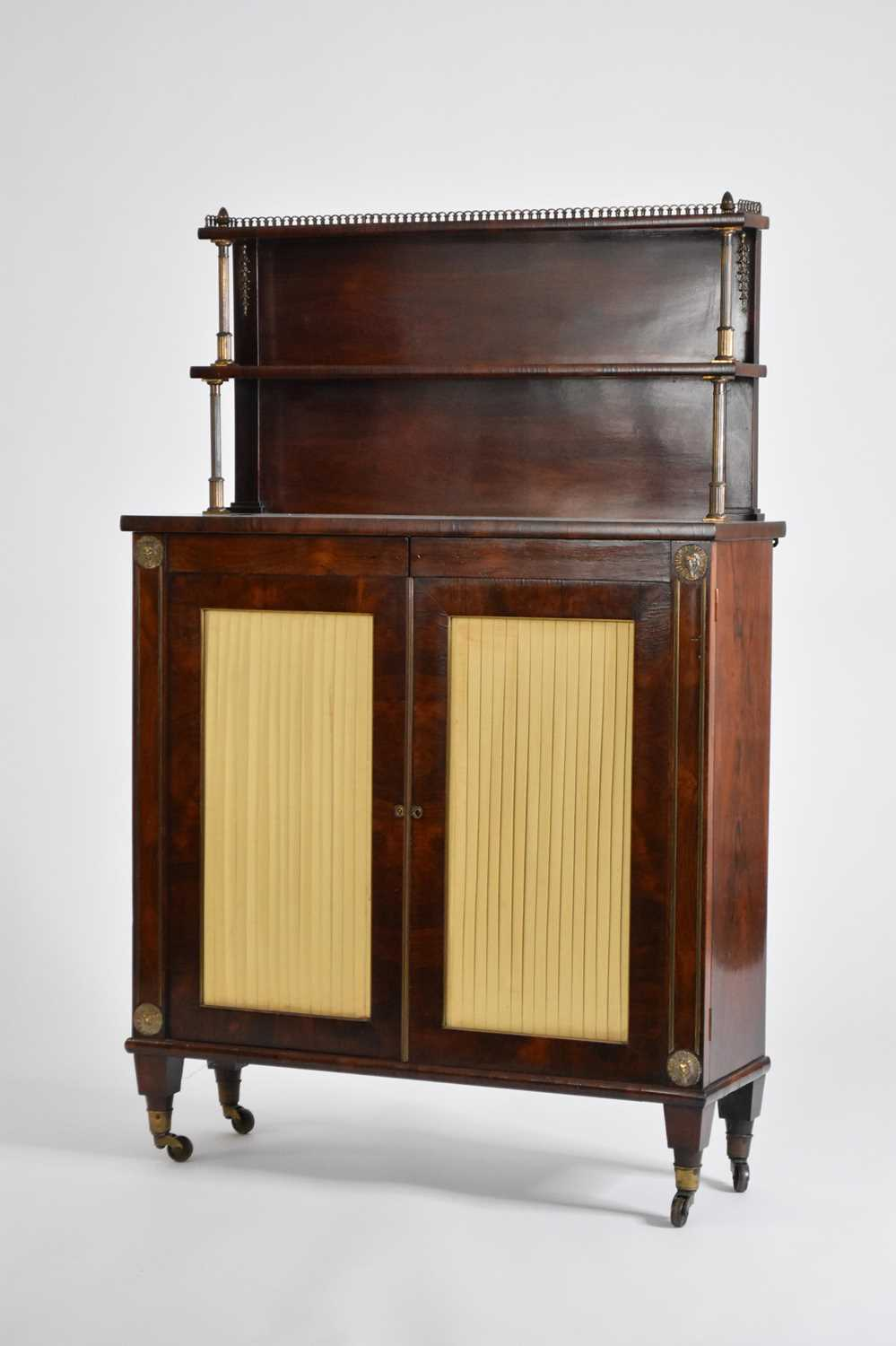 An early 19th century rosewood veneered bookcase - Image 2 of 2
