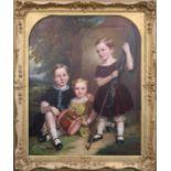 Attributed to Henry Spurrier Parkman (British, 1814-1864), Portrait of Three Children