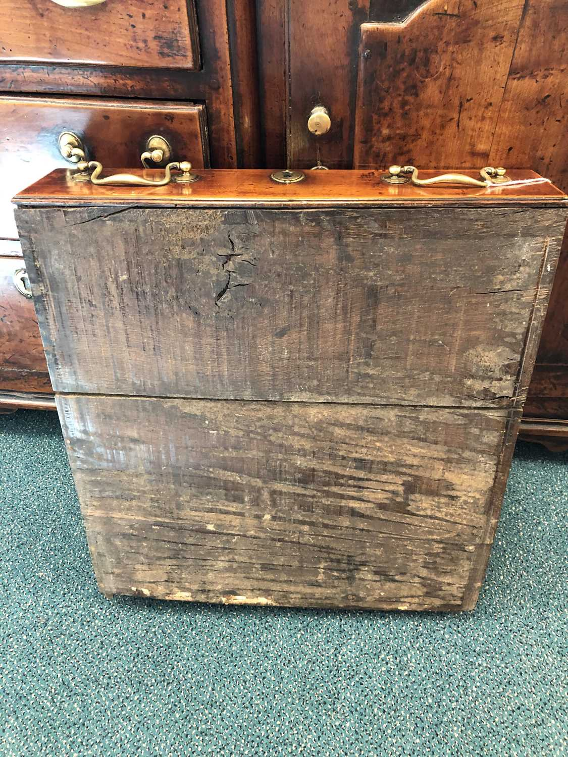 A late 18th century fruitwood or yew wood breakfront dresser, North Wales - Image 10 of 16