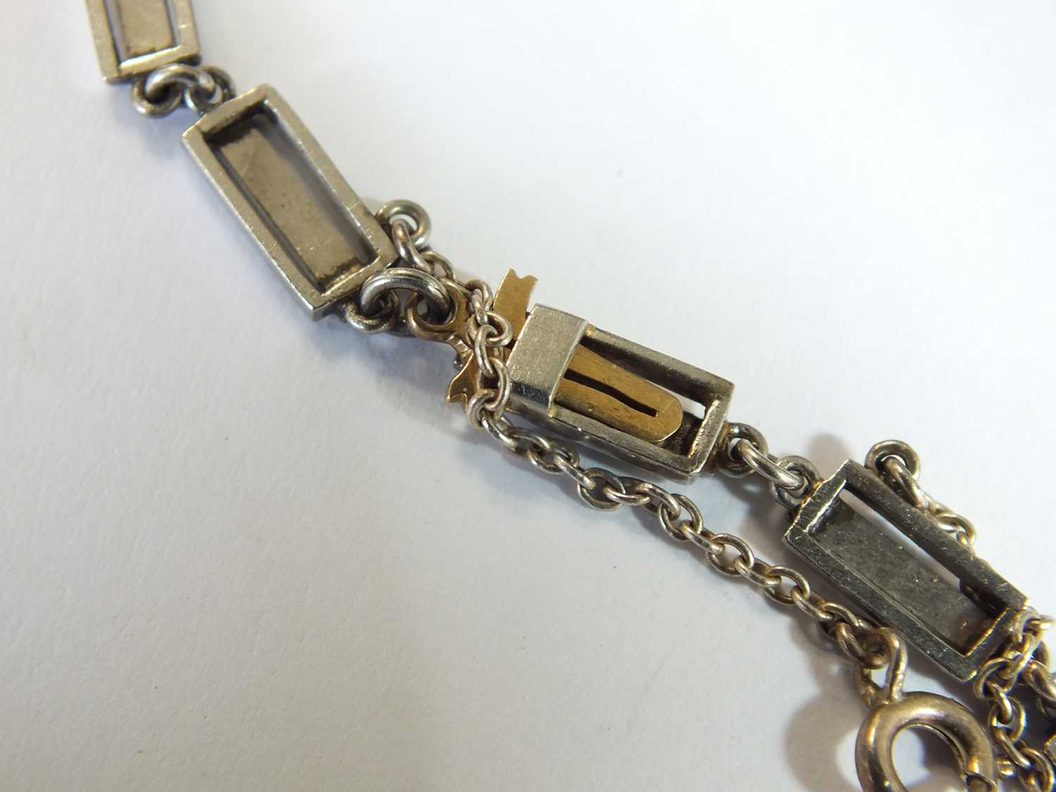 An Art Deco emerald and diamond pendant on chain - Image 13 of 14