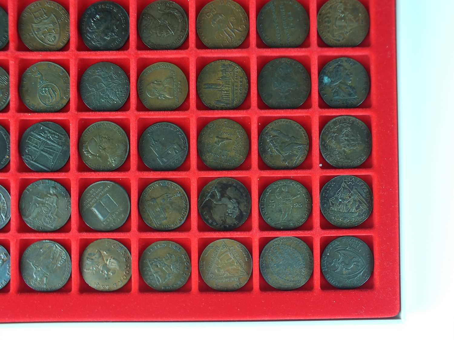 A collection of late 18th century British halfpenny copper trade tokens - Image 4 of 5