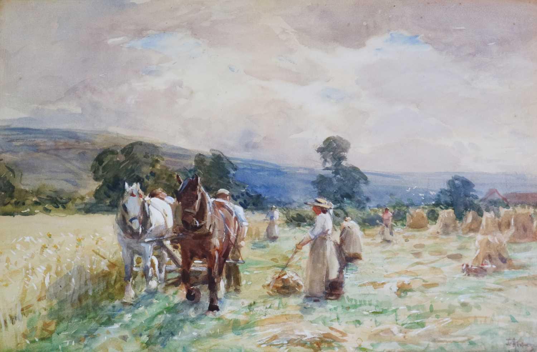 John Atkinson (1863-1924) Haymaking