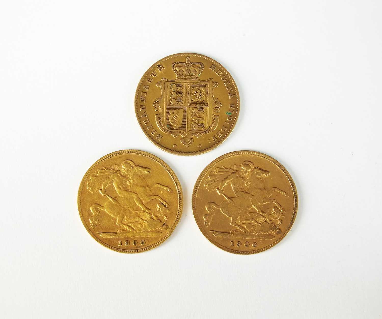 Three Victoria half sovereigns - Image 2 of 2