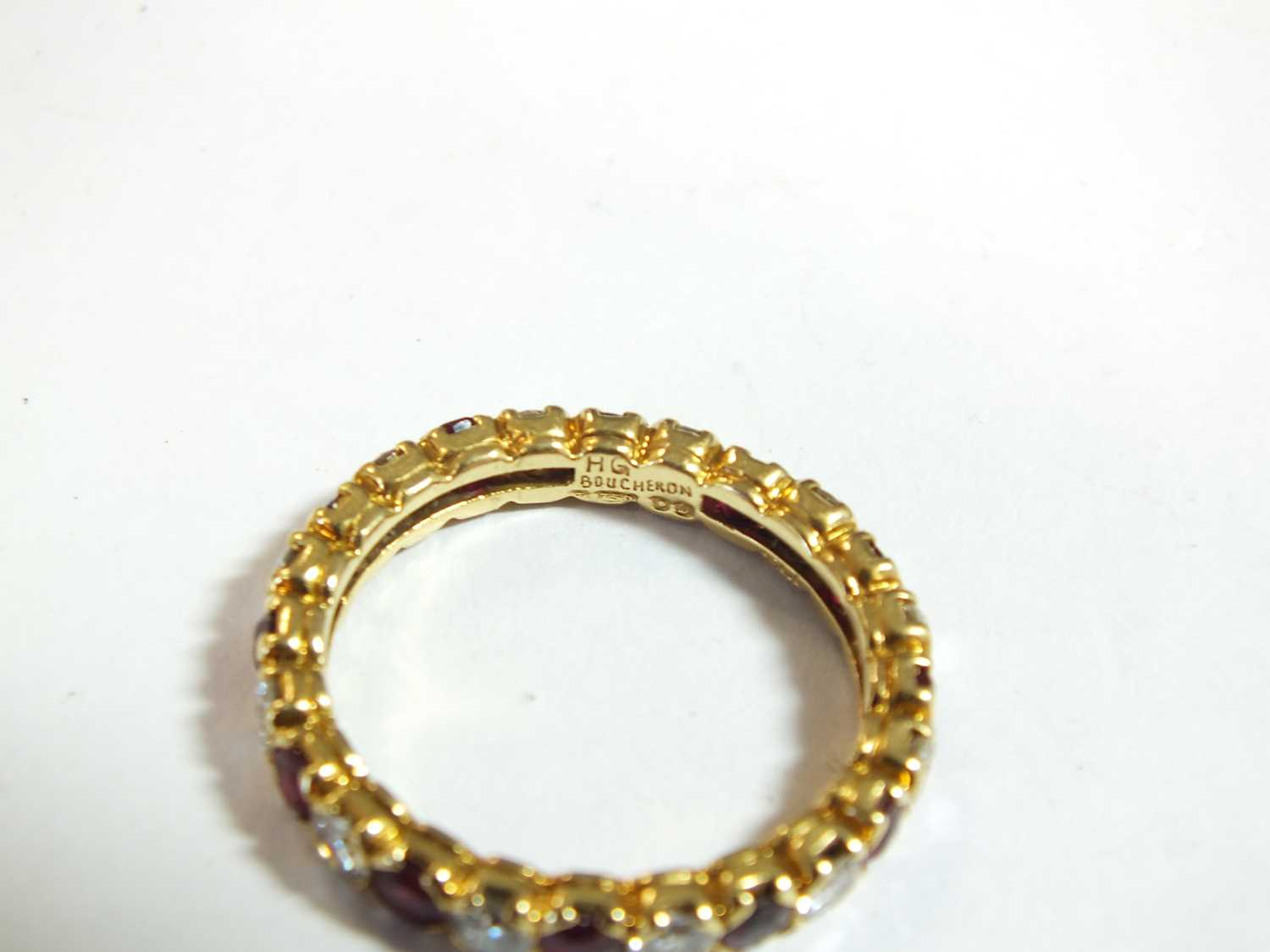 An 18ct gold ruby and diamond full eternity ring by Boucheron - Image 3 of 8