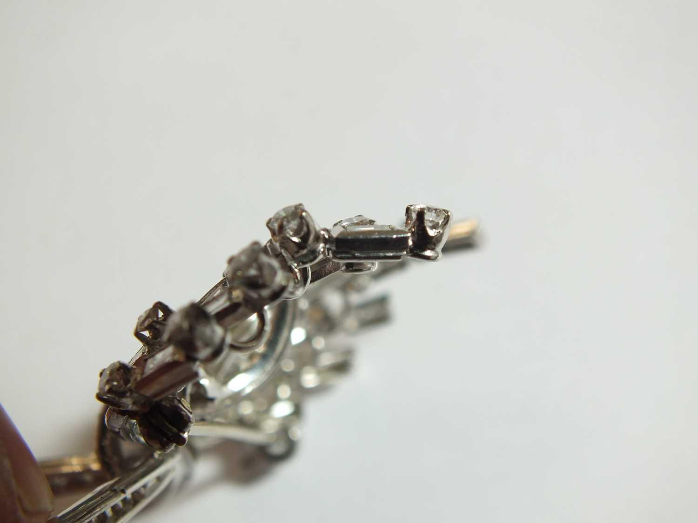 A diamond set scroll spray brooch - Image 8 of 9