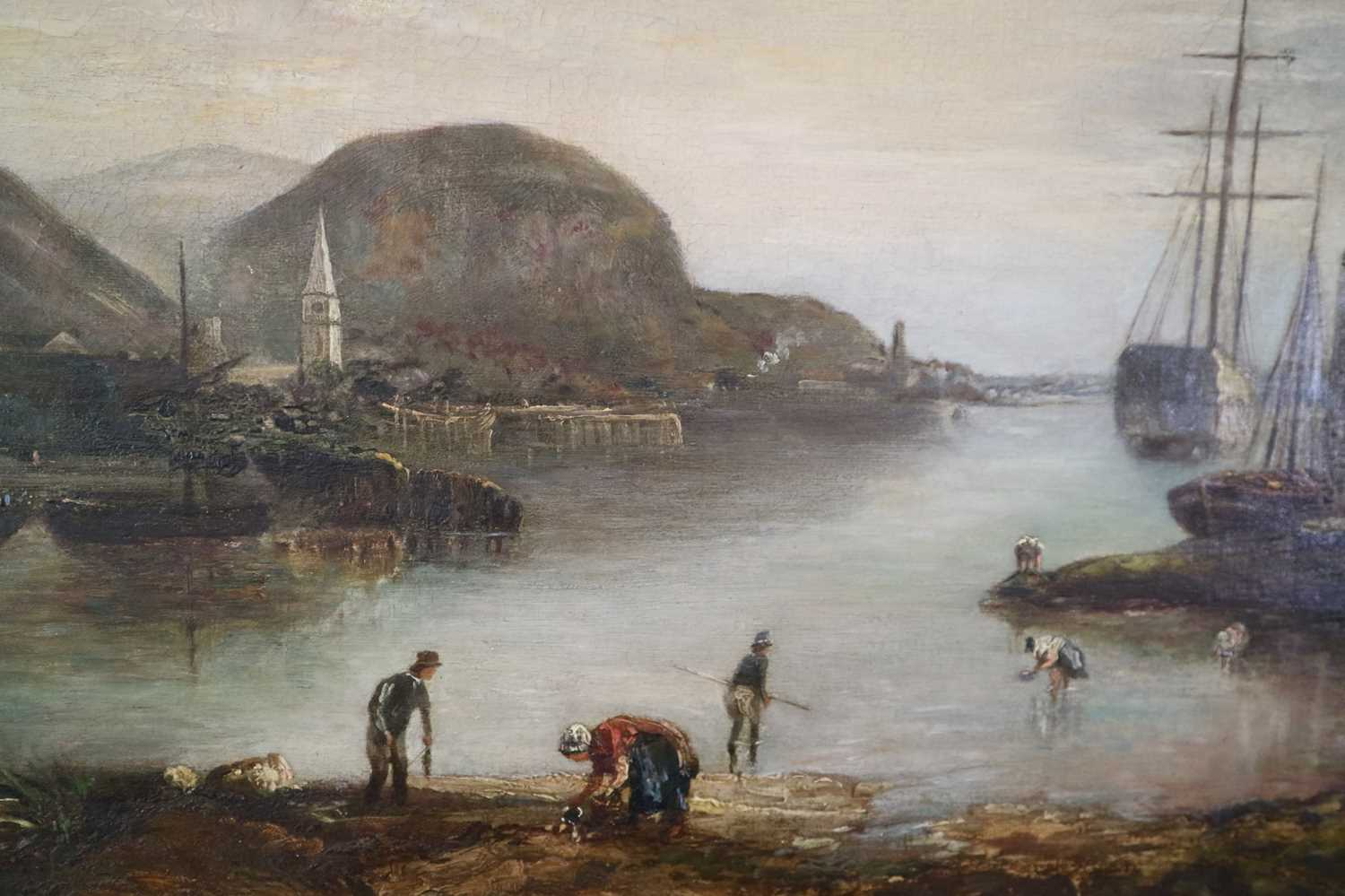 British School (19th Century) Cockle Pickers in a Bay - Image 4 of 5