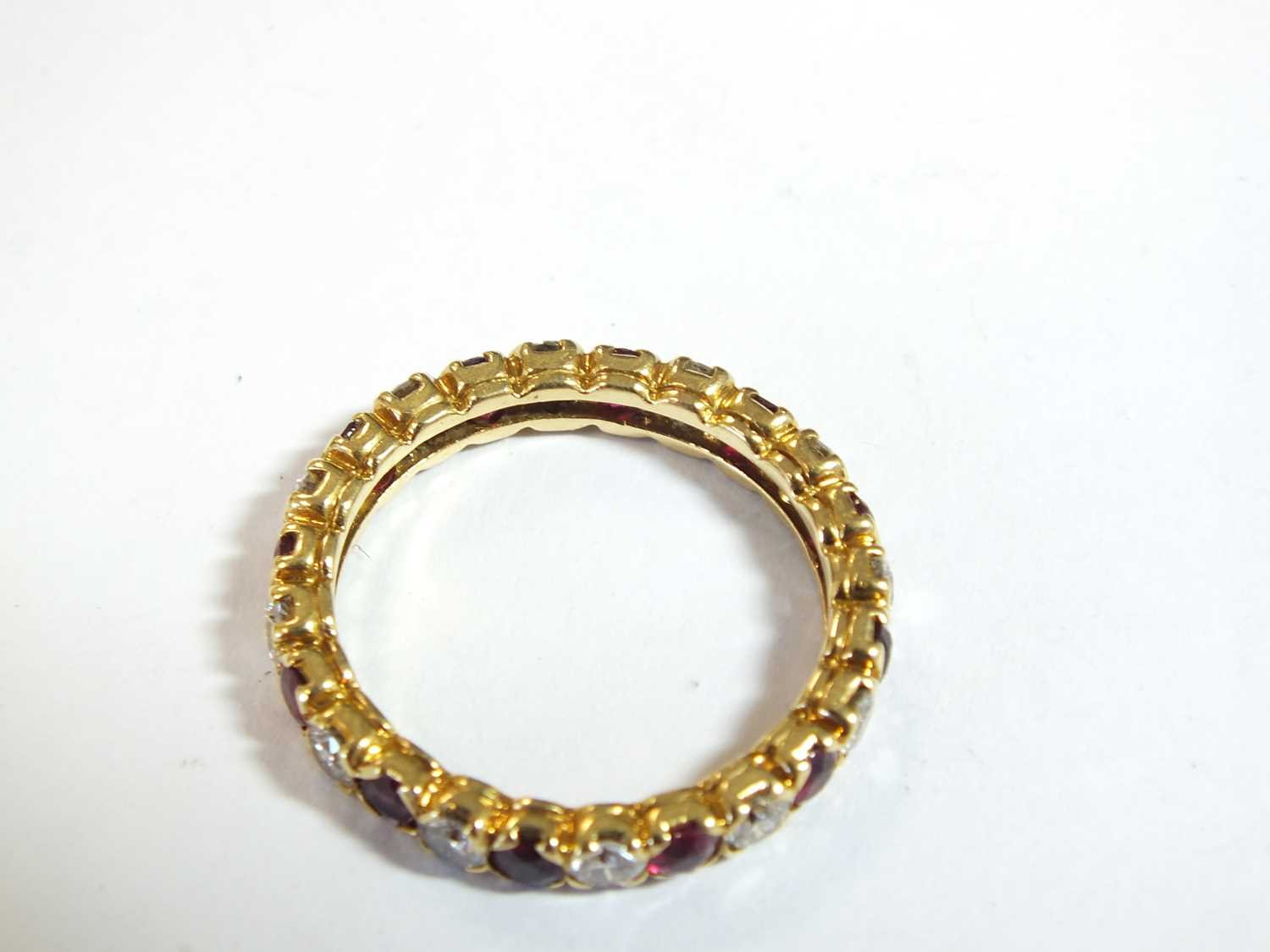 An 18ct gold ruby and diamond full eternity ring by Boucheron - Image 4 of 8