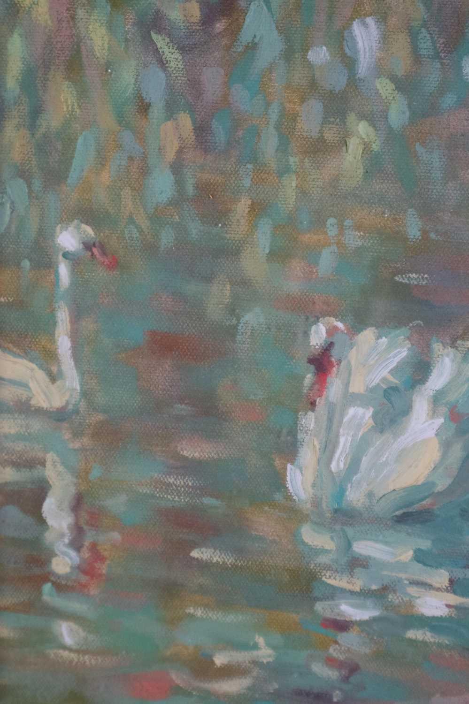 Sheila Tiffin (British b.1952) Lady Feeding the Ducks - Image 3 of 5