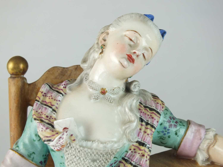 Meissen 'Sleeping Louise' figure, late 19th century - Image 8 of 11