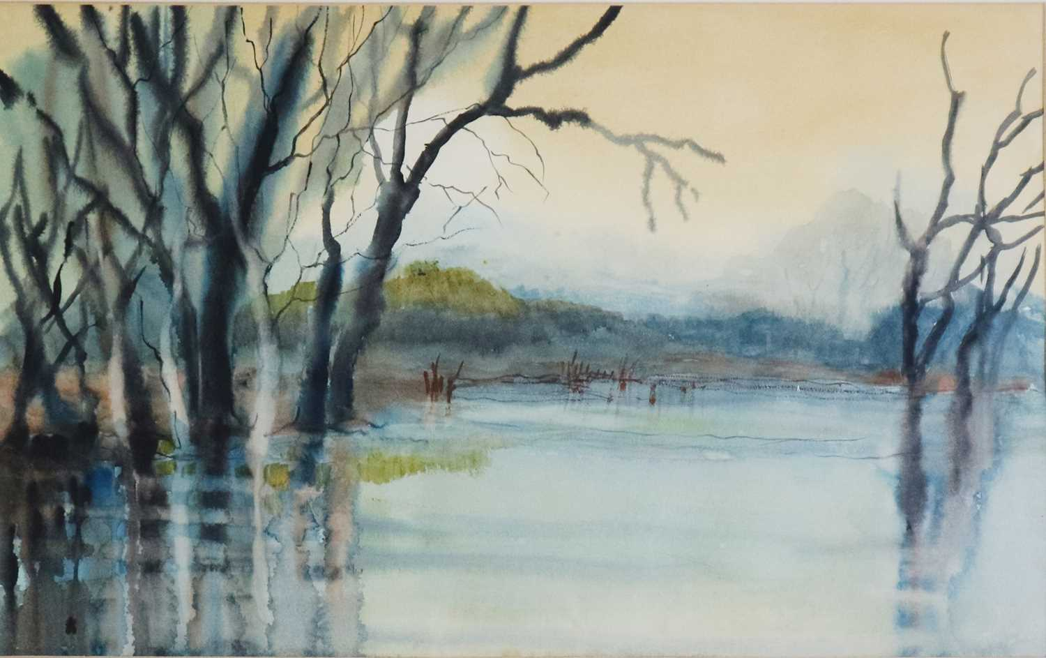 Helen Layfield Bradley (1900-1979) Nellie Fly, Watercolour of a Lakeside with Trees - Image 6 of 6