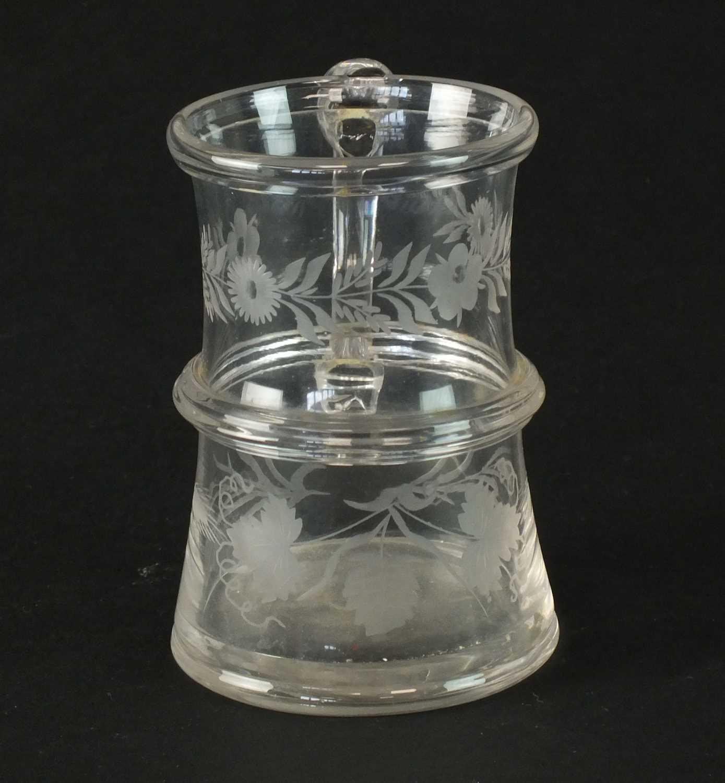 Engraved glass mug circa 1760-70 - Image 2 of 4