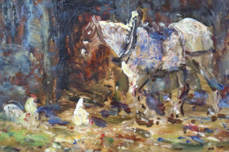 John Falconar Slater (British 1857-1937) Farmyard Scene with Carter and Horse - Image 4 of 6