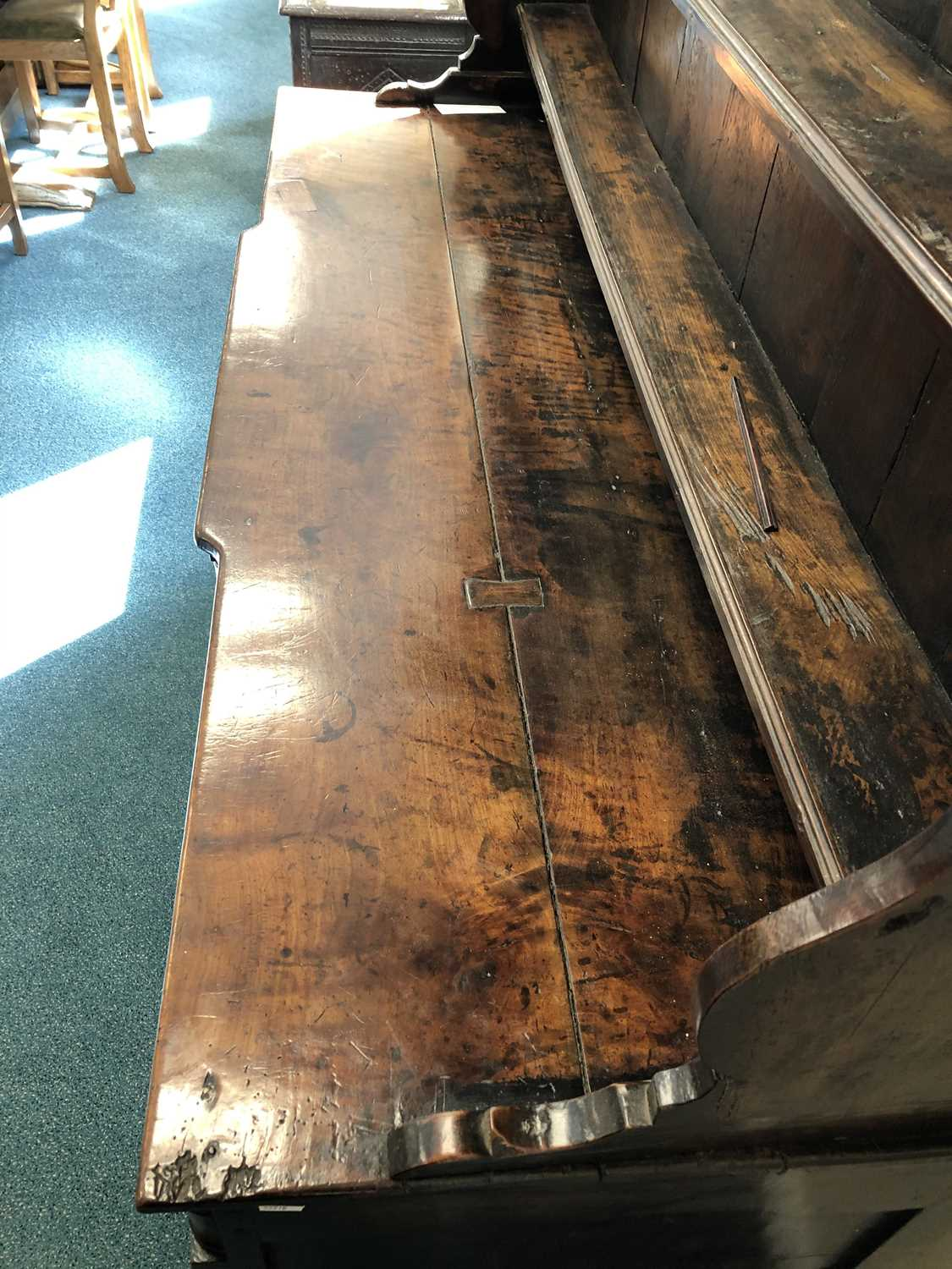 A late 18th century fruitwood or yew wood breakfront dresser, North Wales - Image 3 of 16