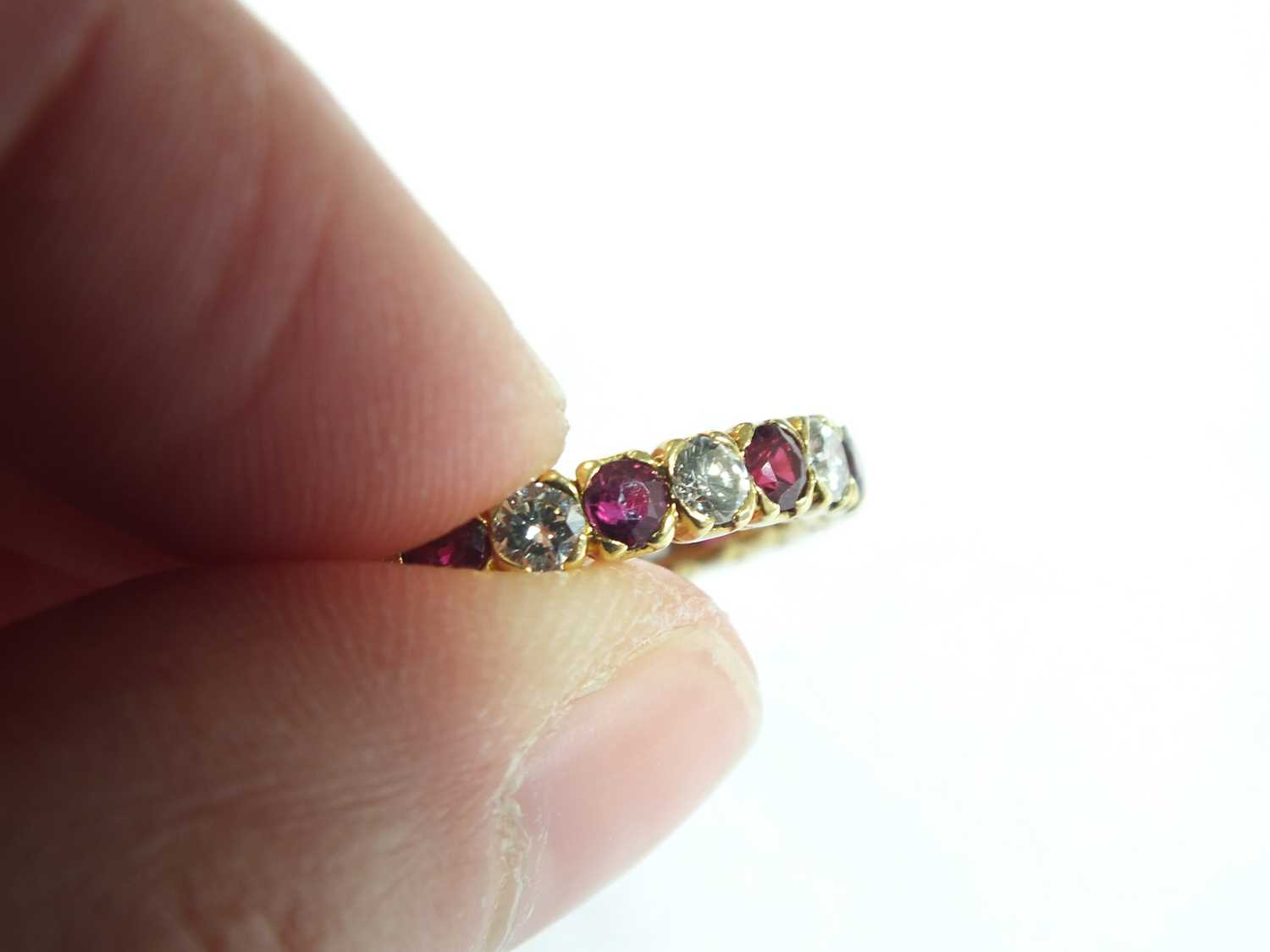 An 18ct gold ruby and diamond full eternity ring by Boucheron - Image 5 of 8