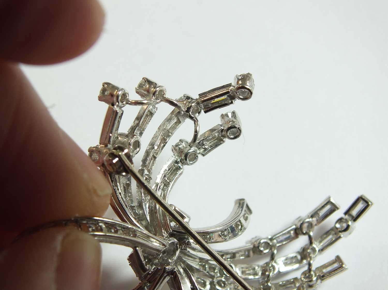 A diamond set scroll spray brooch - Image 6 of 9