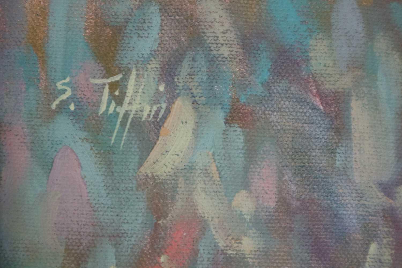 Sheila Tiffin (British b.1952) Lady Feeding the Ducks - Image 4 of 5