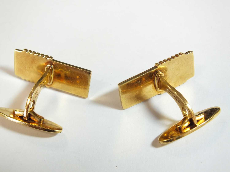 A pair of 18ct gold Georg Jensen cufflinks - Image 4 of 10