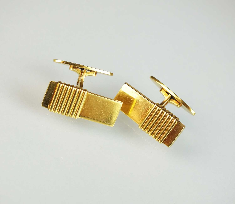 A pair of 18ct gold Georg Jensen cufflinks