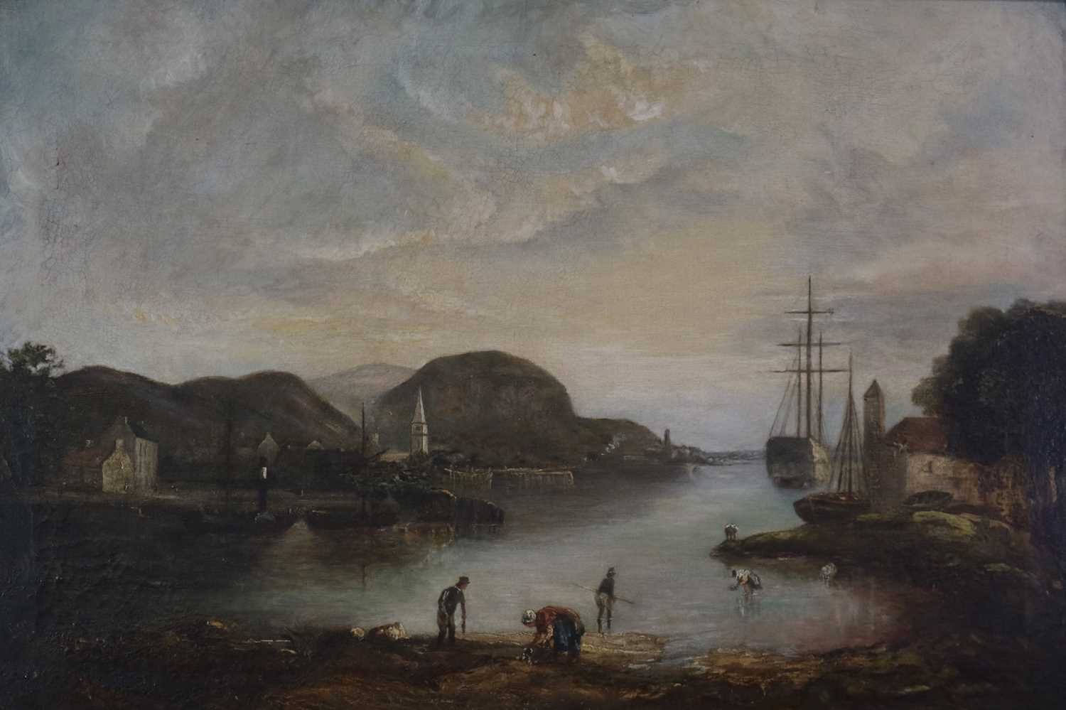 British School (19th Century) Cockle Pickers in a Bay - Image 2 of 5