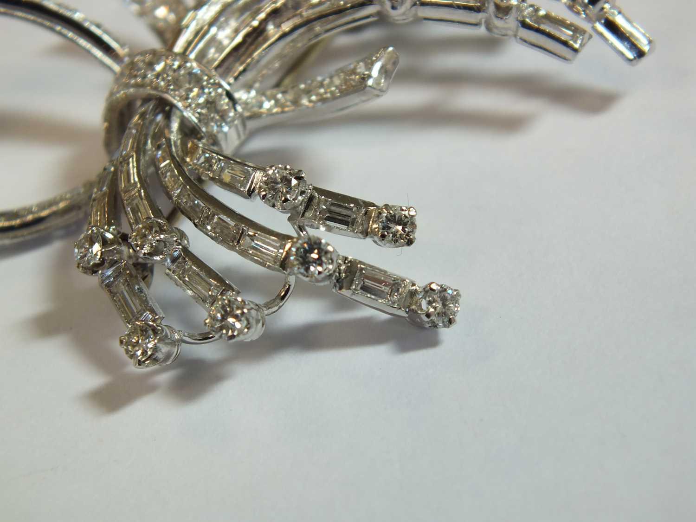 A diamond set scroll spray brooch - Image 9 of 9