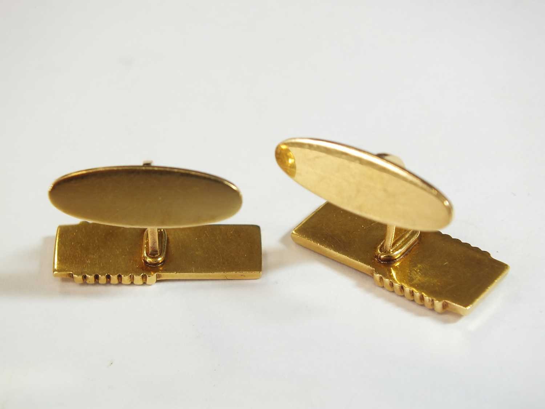 A pair of 18ct gold Georg Jensen cufflinks - Image 9 of 10
