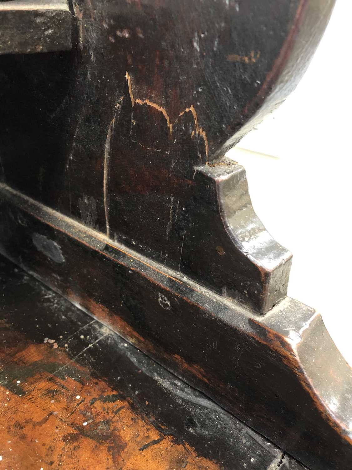 A late 18th century fruitwood or yew wood breakfront dresser, North Wales - Image 16 of 16