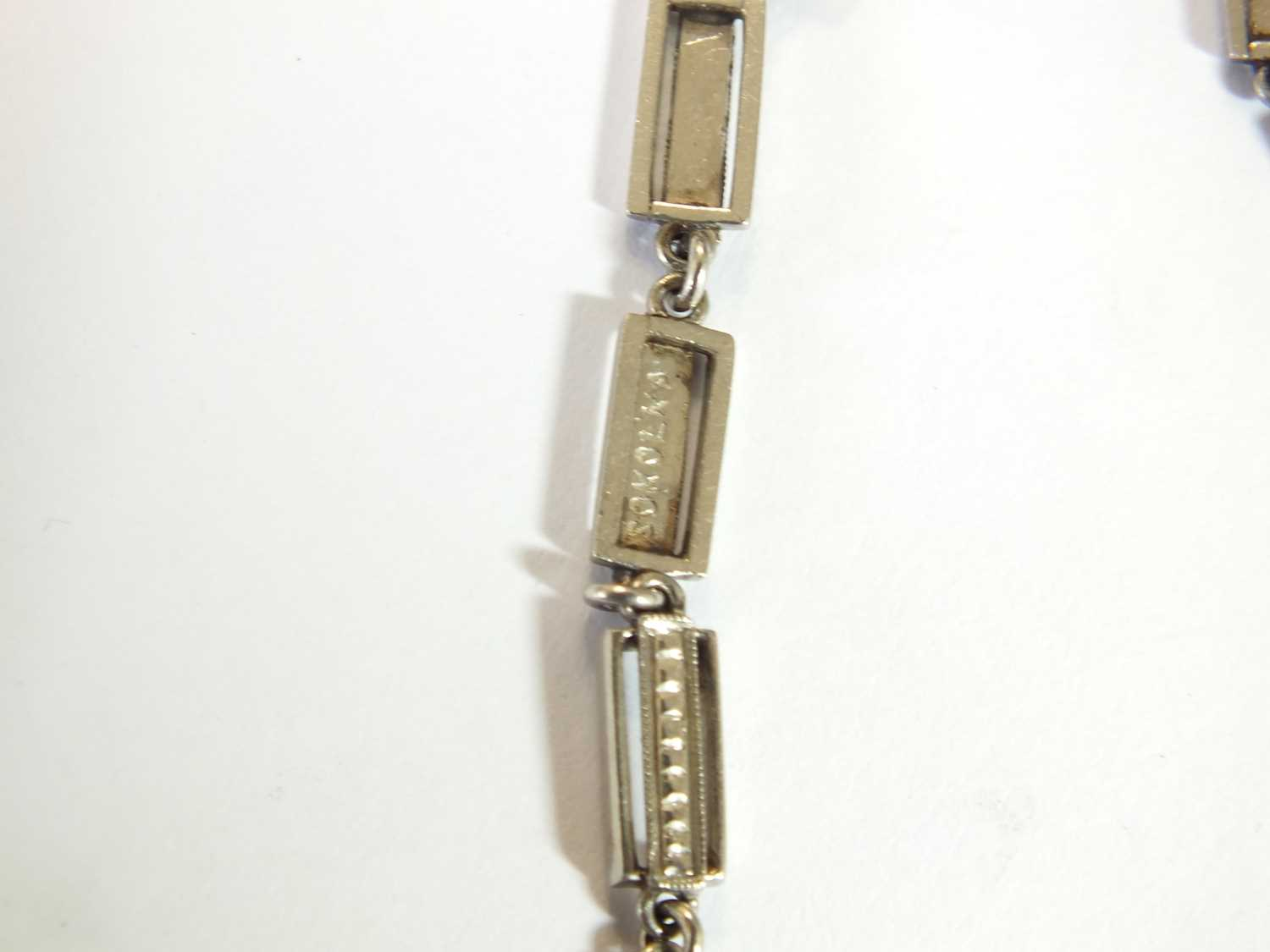 An Art Deco emerald and diamond pendant on chain - Image 14 of 14