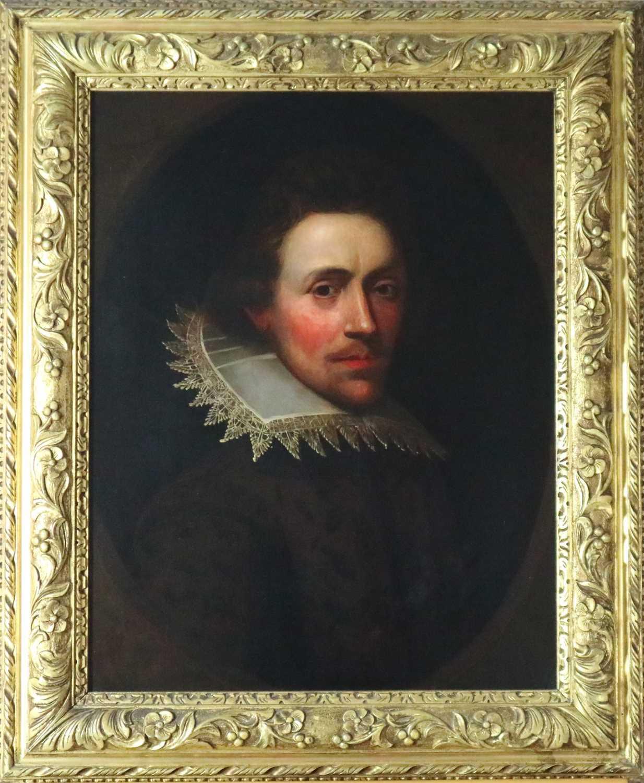 Manner of Marcus Gheeraerts II (17th Century) Portrait of a Gentleman oil on board
