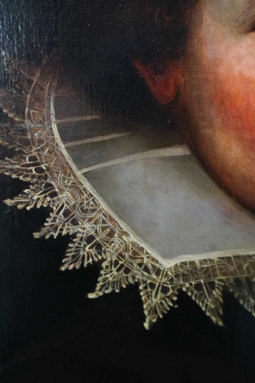 Manner of Marcus Gheeraerts II (17th Century) Portrait of a Gentleman oil on board - Image 7 of 11