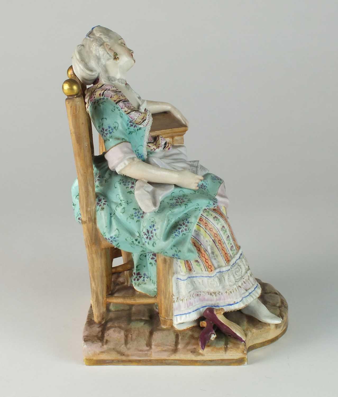 Meissen 'Sleeping Louise' figure, late 19th century - Image 2 of 11