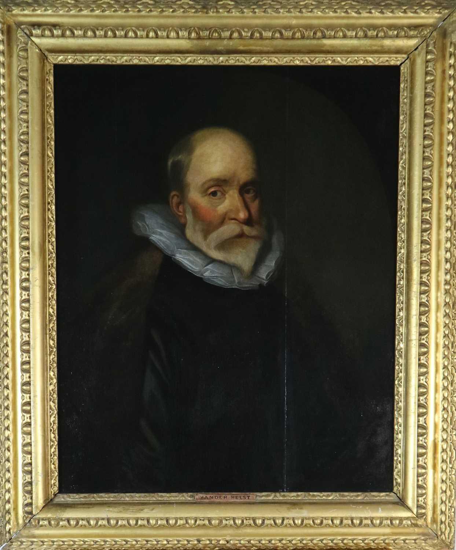 Follower of Van Der Helst (Netherlandish 17th Century), Portrait of a Gentleman oil on panel