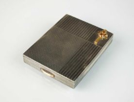 A French silver compact by Boucheron