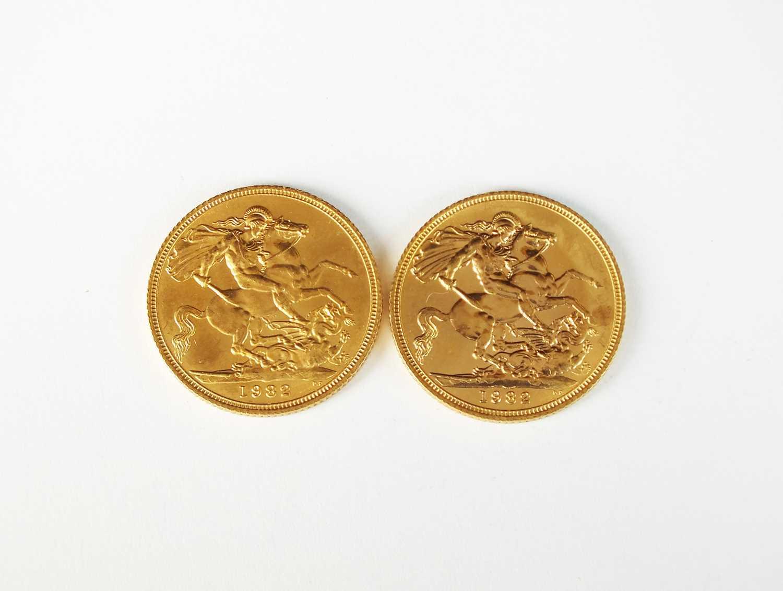 Two Elizabeth II sovereigns