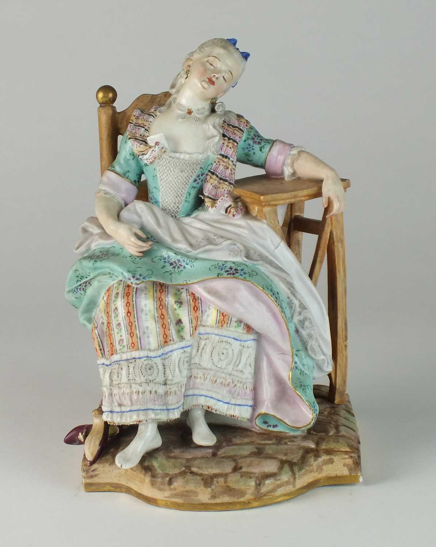Meissen 'Sleeping Louise' figure, late 19th century