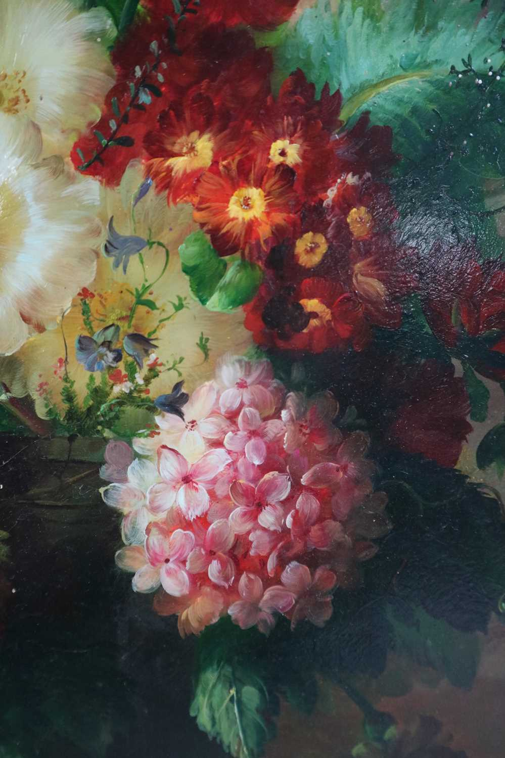 J.A. Stourton (British 20th Century) Still Life with Tulips and Primroses - Image 3 of 6