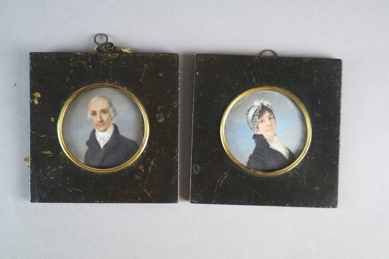 Joseph Heigel (German 1780-1837) A Pair of Portrait Miniatures - Image 2 of 5