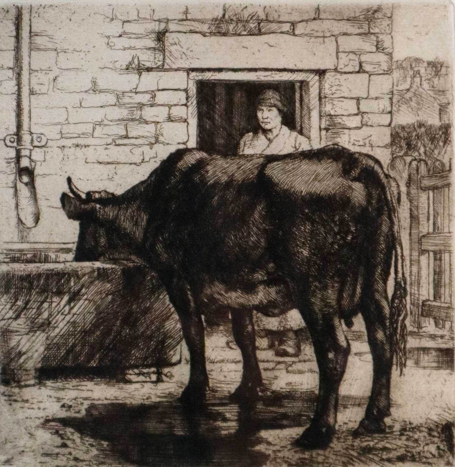 Charles Frederick Tunnicliffe OBE RA (1901-1979) The Water Trough with Copper Plate