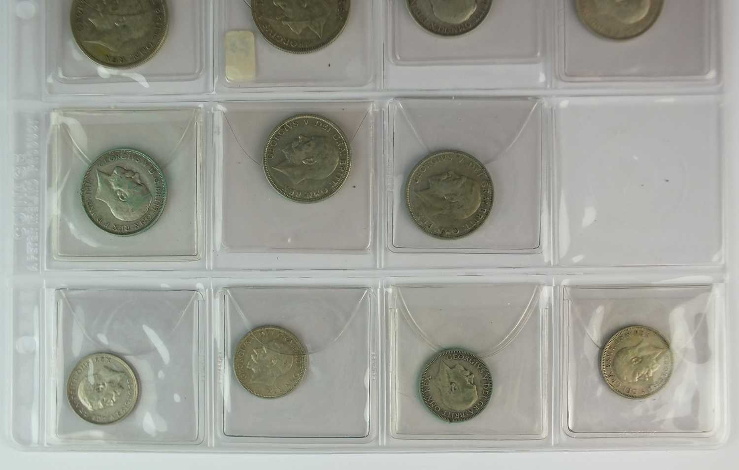 A collection of George V silver coinage - Image 2 of 2