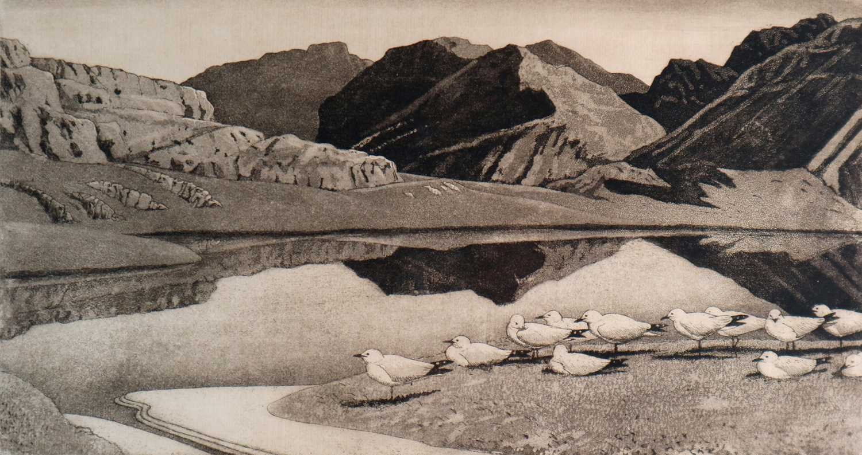Charles Frederick Tunnicliffe OBE RA (1901-1979) Hebridean Landscape