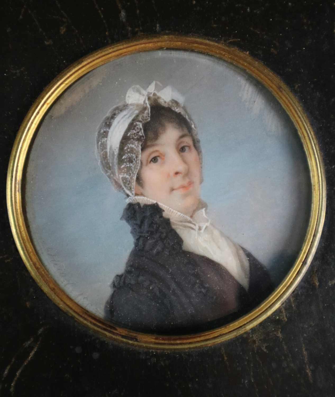Joseph Heigel (German 1780-1837) A Pair of Portrait Miniatures