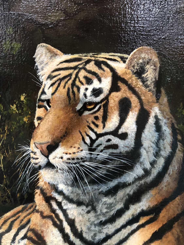 Adrian C Rigby (b.1962) A Tiger Resting - Image 6 of 8