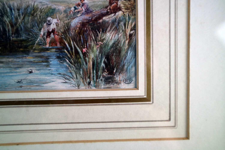 Myles Birket Foster RWS (British 1825-1899) A Rural Harvesting Scene - Image 3 of 4