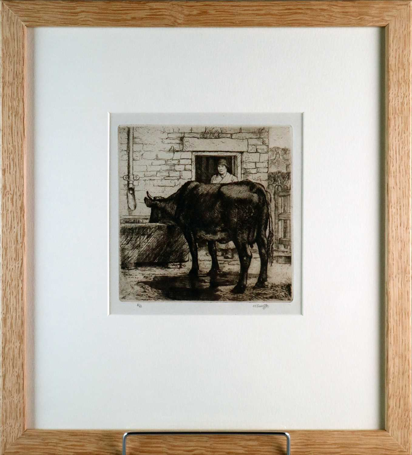 Charles Frederick Tunnicliffe OBE RA (1901-1979) The Water Trough with Copper Plate - Image 2 of 7