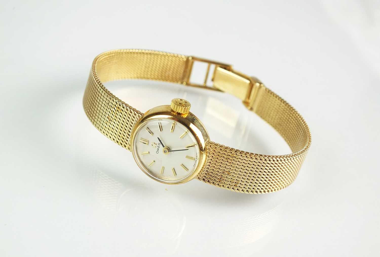 A 9ct gold lady's Omega bracelet watch