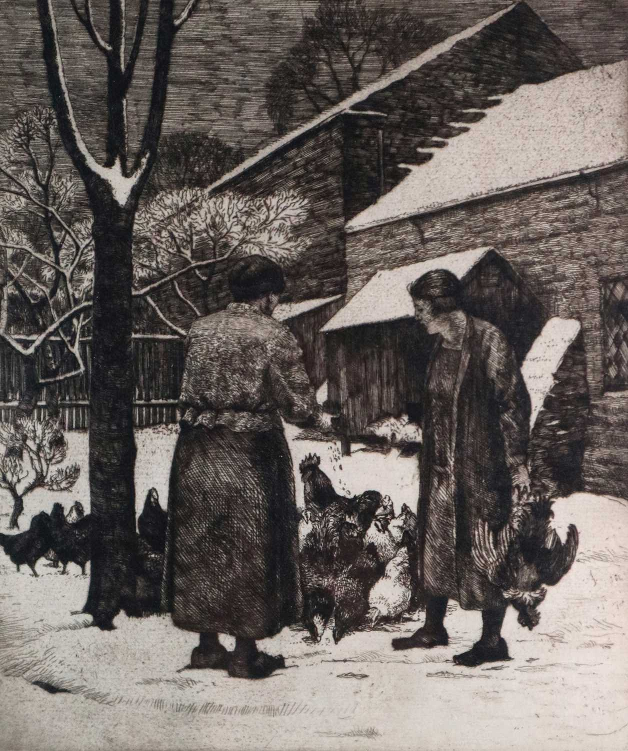 Charles Frederick Tunnicliffe OBE RA (1901-1979) Christmas Chickens