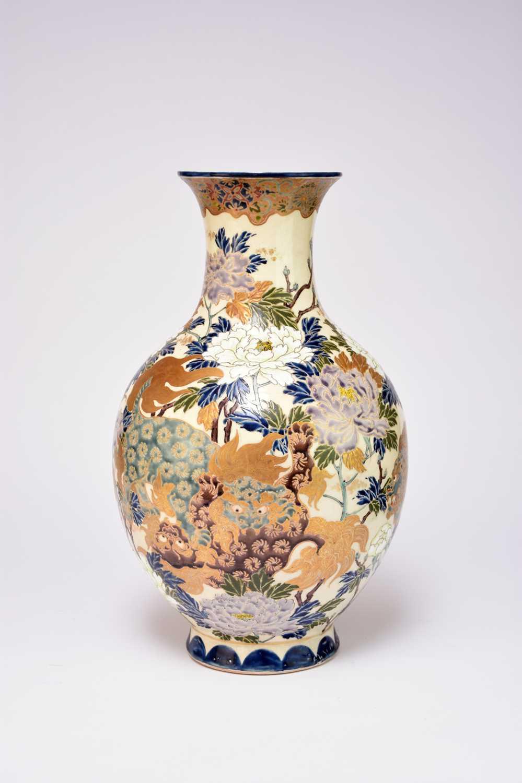 A large Japanese Satsuma vase, Taisho period