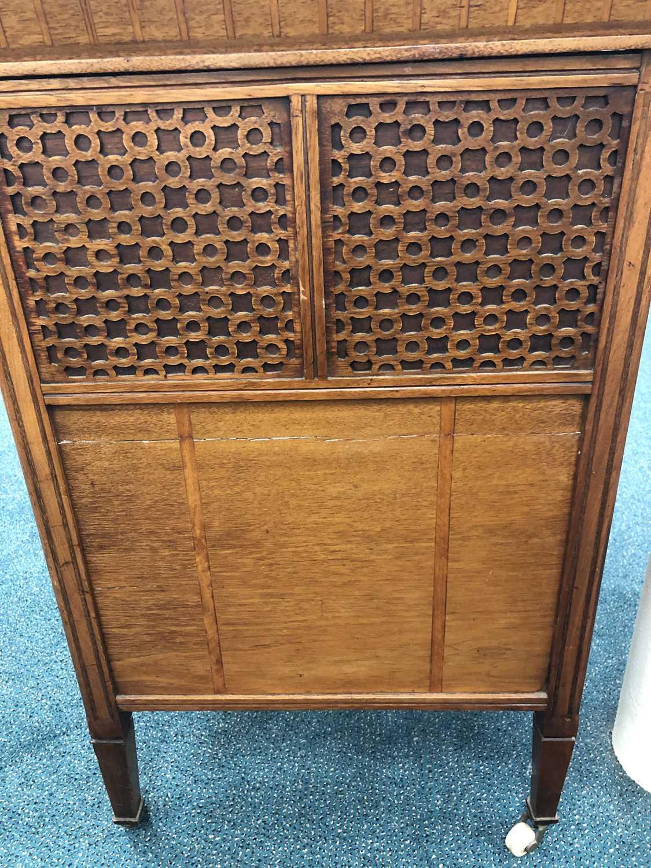 An unusual Edwardian inlaid Davenport type desk - Image 3 of 10