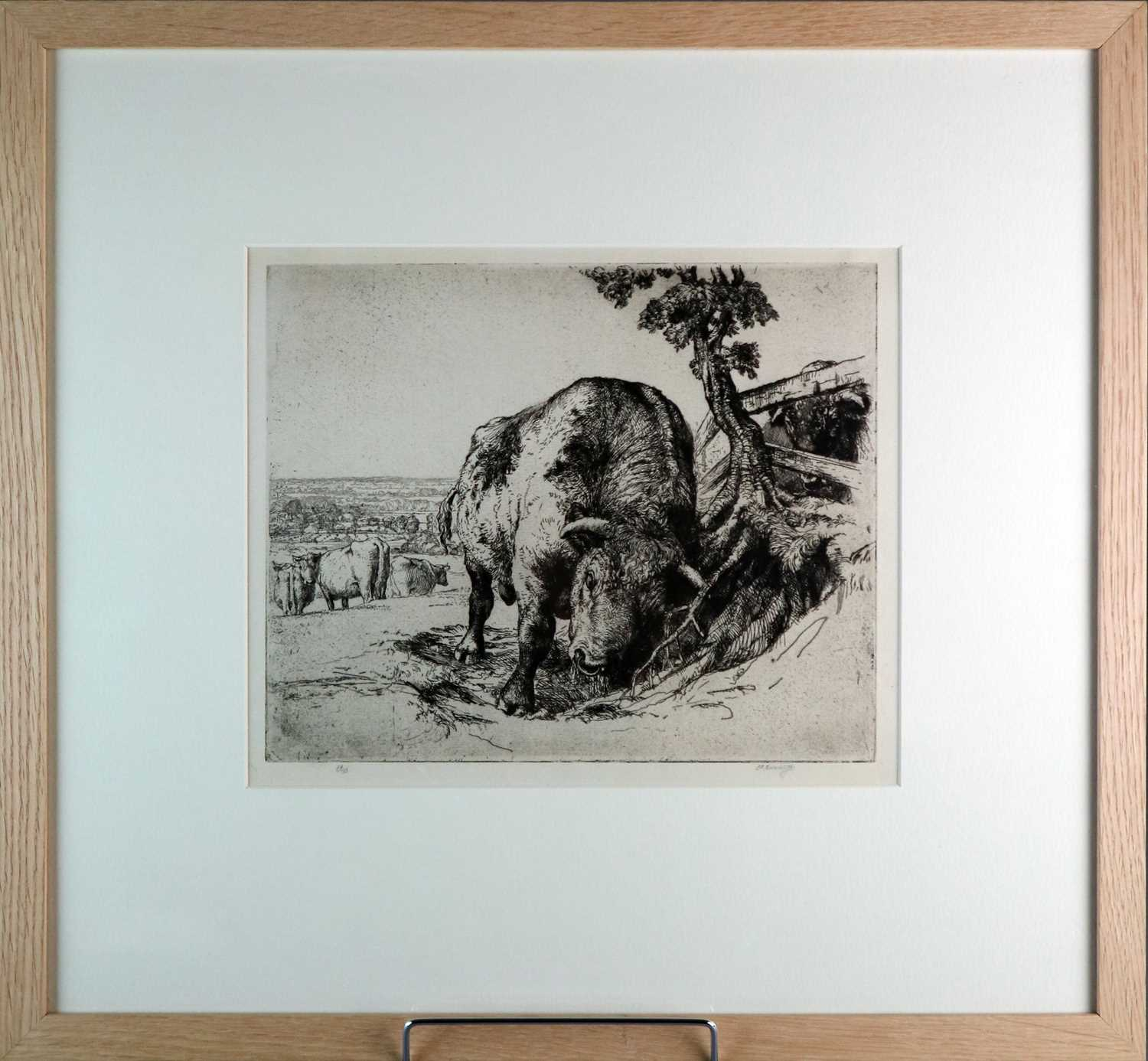 Charles Frederick Tunnicliffe OBE RA (1901-1979) The Bull - Image 2 of 4